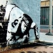 (Provocative urban graffiti by Banksy, found at: http://seamartin.wordpress.com/banksy-the-urban-graffiti-artist/)